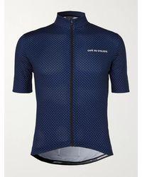 Café du Cycliste Fleurette Cycling Jersey - Blue