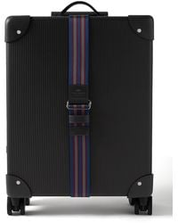 """Globe-Trotter No Time To Die 18 Leather-trimmed Carbon Fiber Carry-on Suitcase"""" - Black"""