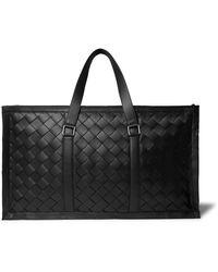 Bottega Veneta Intrecciato Leather Holdall - Black