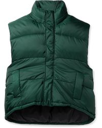 Balenciaga Quilted Padded Hooded Shell Gilet - Green