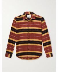 Portuguese Flannel Baviera Striped Cotton-flannel Shirt - Red