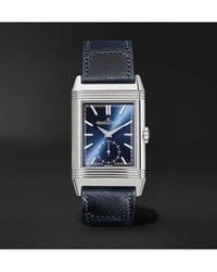Jaeger-lecoultre Reverso Tribute Hand-wound 27mm Stainless Steel And Leather Watch, Ref. No. Q3978480 - Multicolor