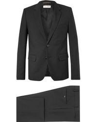 Saint Laurent - Black Slim-fit Wool-gabardine Suit - Lyst
