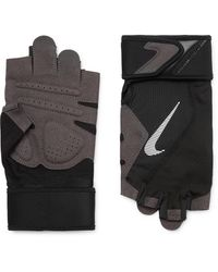 Nike Microsuede, Mesh And Jersey Training Gloves - Black
