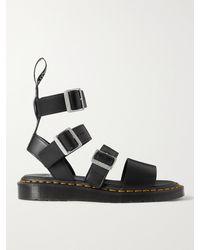 Rick Owens Dr. Martens Gryphon Leather Sandals - Black