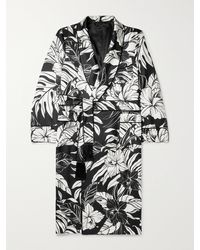 Tom Ford - Piped Floral-print Silk-twill Robe - Lyst