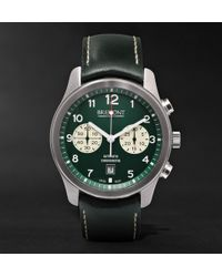 Bremont - Alt1-classic/gn Automatic Chronograph 43mm Stainless Steel And Leather Watch - Lyst