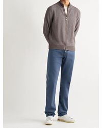 Peter Millar Ultimate Stretch Cotton And Modal-blend Sateen Trousers - Blue