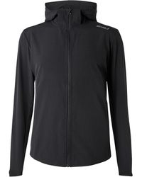 2XU Xvent Mesh-panelled Stretch-jersey Hooded Jacket - Black
