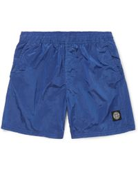 c77f6ca07612b Stone Island Relaxed-fit Swim Shorts in Yellow for Men - Lyst
