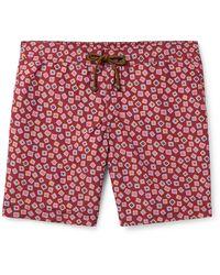 Thorsun Charvet Mid-length Printed Swim Shorts - Red