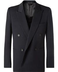 The Row - Navy Julian Slim-fit Double-breasted Virgin Wool Blazer - Lyst