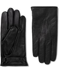 Norse Projects Hestra Salen Merino Wool-lined Full-grain Leather Gloves - Black