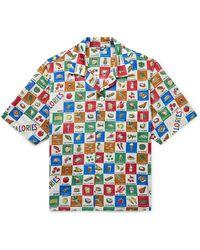 Bode Louie Camp-collar Printed Cotton-poplin Shirt - Multicolour