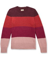 Nudie Jeans - Hampus Striped Knitted Sweater - Lyst