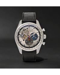 Zenith - El Primero Chronomaster 1969 42mm Stainless Steel And Alligator Watch - Lyst