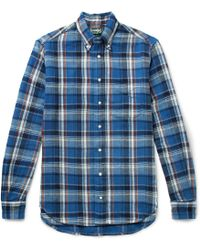 Gitman Brothers Vintage - Button-down Collar Checked Cotton-twill Shirt - Lyst