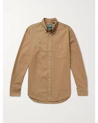 Gitman Brothers Vintage - Button-down Collar Cotton-flannel Shirt - Lyst