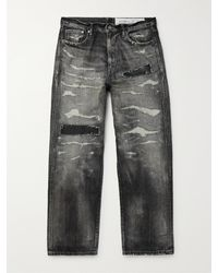 Neighborhood Distressed Denim Jeans - Black