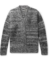 AURALEE Wool-blend Cardigan - Gray