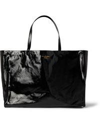 Acne Studios Logo-print Coated-twill Tote Bag - Black