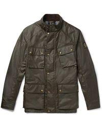 Belstaff Fieldmaster Waxed-cotton Jacket - Green