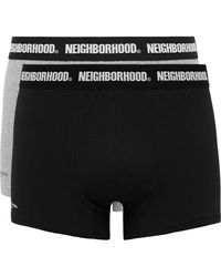 Neighborhood Two-pack Cotton-blend Boxer Briefs - Black