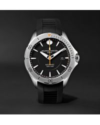 Baume & Mercier Clifton Club Automatic 42mm Stainless Steel And Rubber Watch - Black
