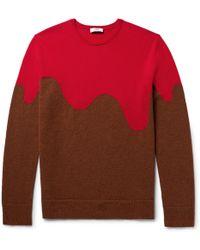 Cmmn Swdn - Two-tone Merino Wool-blend Sweater - Lyst