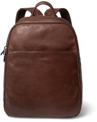 Brunello Cucinelli Textured-leather Backpack - Brown
