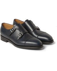 589e610b075 John Lobb - William Ii Full-grain Leather Monk-strap Shoes - Lyst