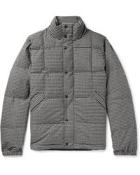 PS by Paul Smith - Quilted Puppytooth Brushed Stretch-cotton Down Jacket - Lyst