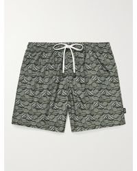 Ermenegildo Zegna Mid-length Printed Swim Shorts - Green