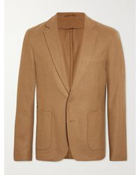 Officine Generale Unstructured Wool And Cashmere-blend Blazer - Multicolour