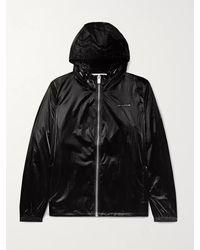 1017 ALYX 9SM Nightrider Logo-appliquéd Shell Hooded Jacket - Black