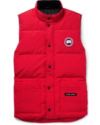 Canada Goose Freestyle Quilted Down Gilet - Red