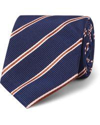 Kingsman + Drake's 8.5cm Striped Silk And Cotton-blend Faille Tie