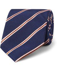 Kingsman - + Drake's 8cm Striped Silk And Cotton-blend Faille Tie - Lyst
