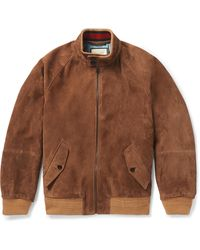 Gucci Suede Bomber Jacket - Brown