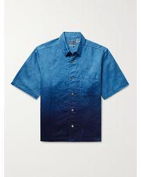 Blue Blue Japan Dégradé Linen Shirt - Blue