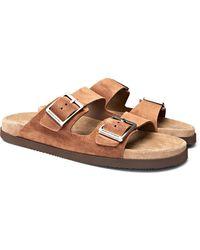 Brunello Cucinelli Suede Sandals - Brown