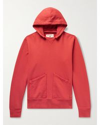 Birdwell Cayucos Loopback Cotton-jersey Hoodie - Red