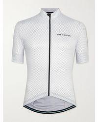 Café du Cycliste Fleurette Polka-dot Cycling Jersey - White