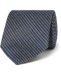Ermenegildo Zegna 9cm Puppytooth Silk Tie - Blue