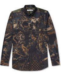 Givenchy - Button-down Collar Printed Cotton-twill Shirt - Lyst