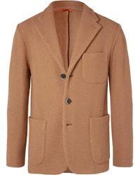 Barena Camel Slim-fit Unstructured Virgin Wool-bouclé Blazer - Brown