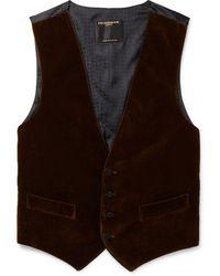 Favourbrook Slim-fit Cotton-velvet Waistcoat - Green