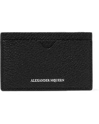 Alexander McQueen - Pebble-grain Leather Cardholder - Lyst