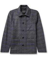 Club Monaco Checked Wool-blend Chore Jacket - Gray