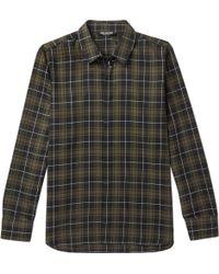 Neil Barrett - Embellished Checked Cotton Shirt - Lyst